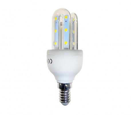 GLED1500F1 Bombilla STARKEN 3W LED 3 tubos Luz fría 6500k E14 30000 horas