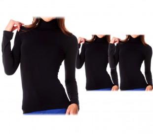 VKA25 Pack 5 camisetas térmicas con interior de felpa mod. ANAIS cuello de pico