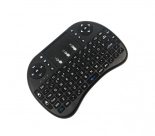 Mini teclado inalámbrico Qwerty con panel táctil para Smart TV, Android IOS 2.4