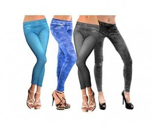 Jeggins pantalón elásticos efecto tejano