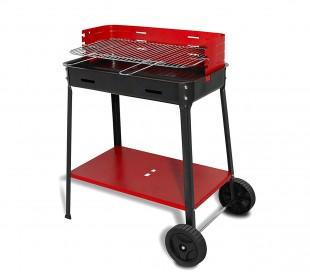 Barbacoa FLAVIA de carbón art. 503r ARTIGIAN FERRO 35x60x80h con ruedas para bbq