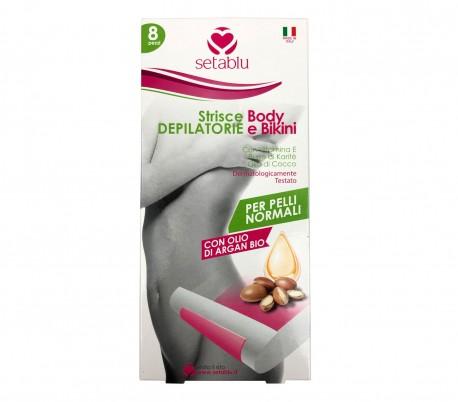 Pack 8 tiras SETABLU Depilatory para pieles normales con aceite de vitamina E