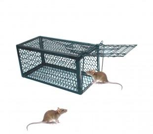 Trampa de metal para ratones con resorte automático snap 24x11x11 cm NEGRO