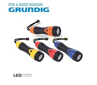 Linterna 5 LED con empuñadura de goma 21 cm de largo - Grundig