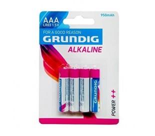 Paquete de 4 pilas alcalinas - Grundig AAA alcalina LR03 stylus 1.5V 950 mAh