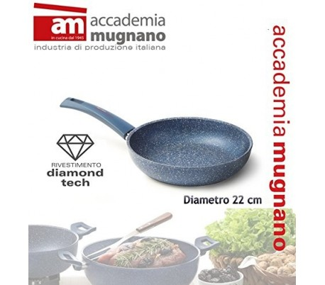 Sartén 22 cm efecto piedra antiadherente revestimiento Diamond Tech GRANITO BLU