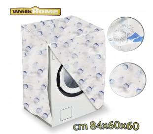 Funda protectora de plástico lavadora medida universal 80x60x60cm - WELKHOME