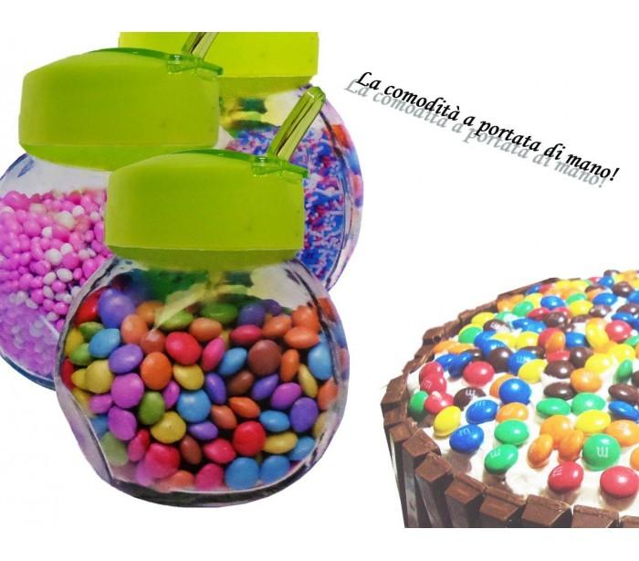 Set 3 recipientes 200ml de cristal para especias y alimentos 6 x 8 x 9 cm mediawavestore - Recipientes para alimentos ...