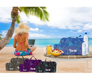 Set 2 bolsas térmicas FREE-GO con efecto CAMUFLAJE con 2 asas y correa de hombro - refrigerante de alimentos y bebidas