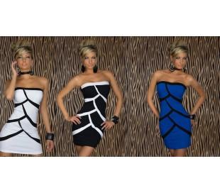 Vestido ajustado–de noche fiesta – atractiva frente las camaras mod STRIPS