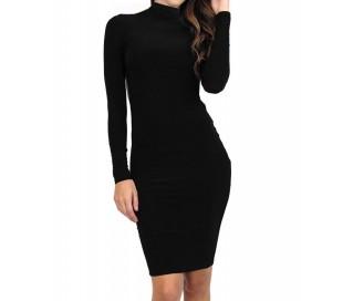 Vestido de mujer ajustado de tubo color negro con espalda al decubierto mod. DESNUDA - Moda femenina mws