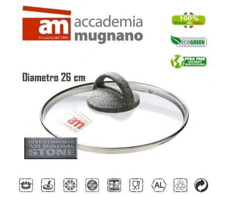 Tapa de vidrio 26 cm - Accademia Mugnano CUORE DI PIETRA