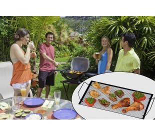 Bandeja 2en1 para parrilla de barbacoa/Placa hierro(40x22CM) - BBQ COLLECTION