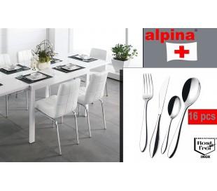 Set 16 piezas cubiertos de cocina INOX en cómodo maletín ALPINA