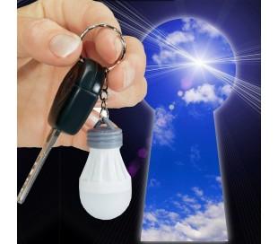 Llavero con bombilla LED para encontrar fácilmente los objetos