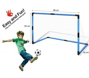 Portería infantil futbol con marco plástico y pelota MOD.PEN@LTY ZONE 96x42x64cm