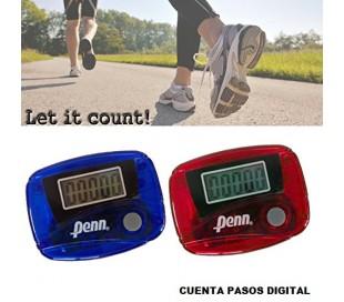 Podómetro cuentapasos con pantalla LCD cuenta hasta 99.999 pasos con gancho para la cintura - PENN