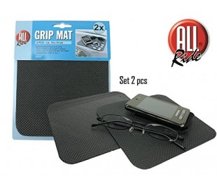 Set 2 tapetes antideslizantes 15x15 cm para el salpicadero de coche / Porta-objetos de viaje GRIPMAT