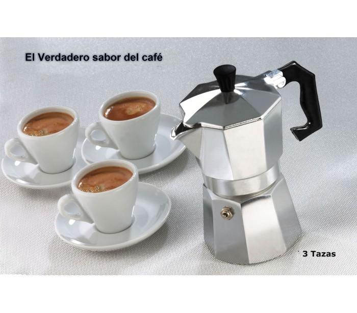 Cafetera italiana cl sica metalizada 3 tazas caf caf for Tazas para cafe espresso