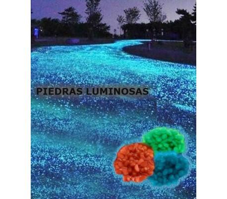 Pack de 100 piedras decorativas luminosas que brillan en la oscuridad