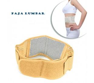 Banda elástica faja lumbar ajustable para dolor espalda lumbago y ciática BEIGE