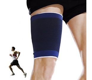 Pack de dos bandas para el muslo para el dolor / lesión AZUL