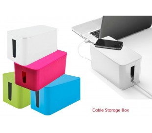 Organizador de cables / Caja para cables (23 x 11 x 12 cm) - CABLE STORAGE BOX