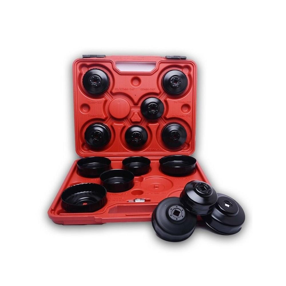 Kit 15 llaves de campana para realizar cambios de filtros de aceite del coche