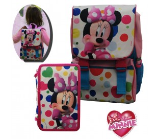 Kit escolar (incluye mochila y material) WD16171 - MINNIE MOUSE de DISNEY
