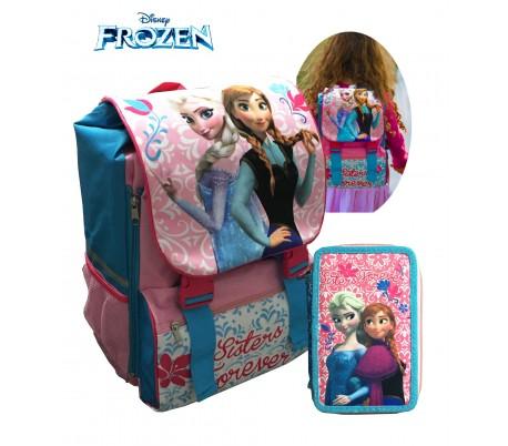 Kit escolar (incluye mochila y material) WD16175 - PRINCESA SOFÍA de DISNEY