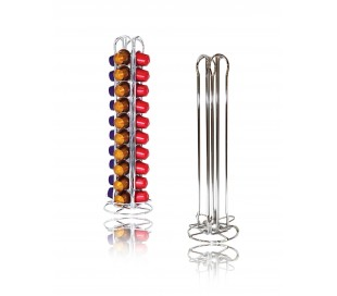 Stand con diseño metálico con capacidad para 40 cápsulas de café en 4 columnas 726104
