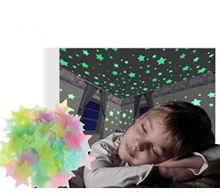 Pack 15 estrellas adhesivas fluorescentes decorativas para la habitación 608124