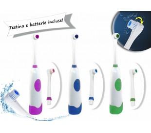 Cepillo de dientes eléctrico de viaje con cabezal giratorio y recambio incluido 748006