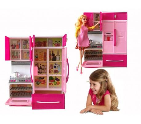 Cocinita infantil de color rosa con efectos de sonido y iluminación y accesorios La mia splendida cucina - 101788