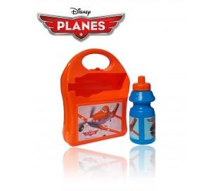Kit fiambrera infantil para el colegio con motivo de DUSTY PLANES incluye botella de 350ml - Porta-sandwich 553-20255