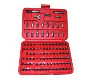 Kit insertos 100 pcs herramientas atornilladoras y destornilladoras en maleta