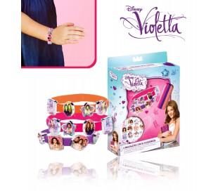WD95001 Set 3 pulseras silicona VIOLETTA V-LOVERS con imágenes del personaje
