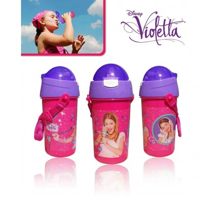 Cantimplora / Botella de agua con motivo de VIOLETTA 500ml con cómoda correa de transporte DISNEY 80209