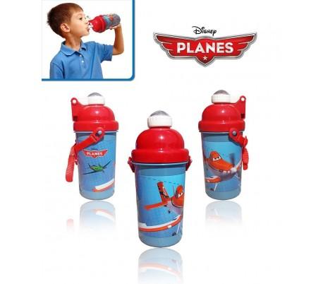 Cantimplora / Botella de agua con motivo de PLANES - AVIONES 500ml con cómoda correa de transporte DISNEY 552-51210