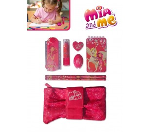 Kit escritura con estuche - motivo Mia and Me / Perfecta idea de regalo MM13223