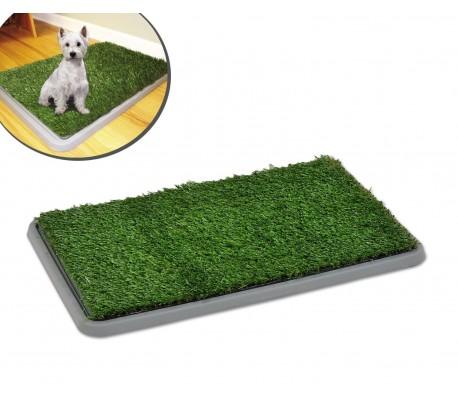 Inodoro de bandeja hecho de césped artificial para la educación de perros y cachorros POTTY PATCH - 68 x 43 x 5 cm