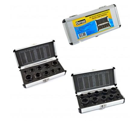 Maletín 10 piezas - Casquillos extractores de tornillos y tuercas