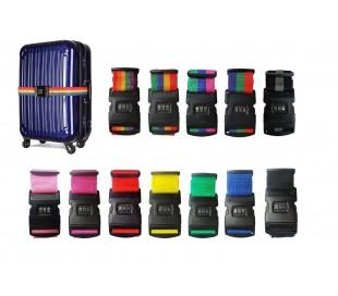 Cinturón para la maleta / Correa de seguridad antirrobo con contraseña de 3 cifras - Protección para el equipaje - LIFETIME
