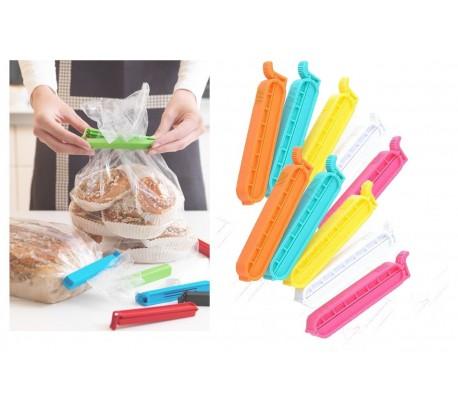 Conjunto 10 piezas - Pinzas herméticas para mantener los alimentos frescos y en buenas condiciones (colores surtido) 750228