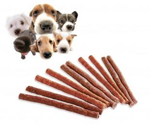 Pack de 10 STICKS de carne seca - Premio para nuestro perro en su adiestramiento y educación