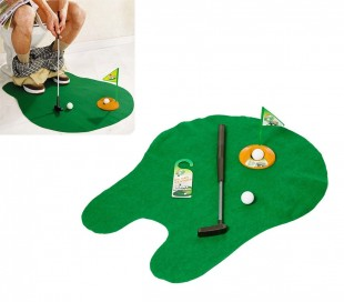 Juego de golf para el ba o entretenimiento y diversi n golf wc for Juego de golf para oficina