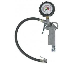 Pistola compresor inflación manómetro neumáticos