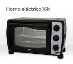 Horno eléctrico de 16 litros DCG MB9803 de 1200W con termostato hasta 230 ° y pantalla en vidrio templado - DCG