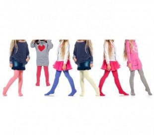 Pack de 3 o 6 leotardos de colores para niñas de algodón en varios tamaños