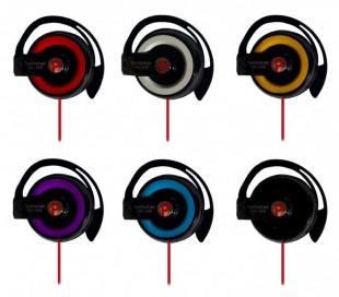 Auriculares con sujeción a la oreja con jack 3,5 mm - Apto para el teléfono móvil y MP3 PQN-308